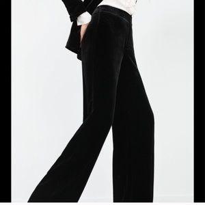 ZARA | Wide Leg Trousers Black